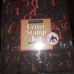 Stamp kit Alphabet